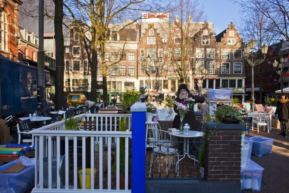 Ikea Tuinmeubelen op het Leidseplein   www maartenbrante com