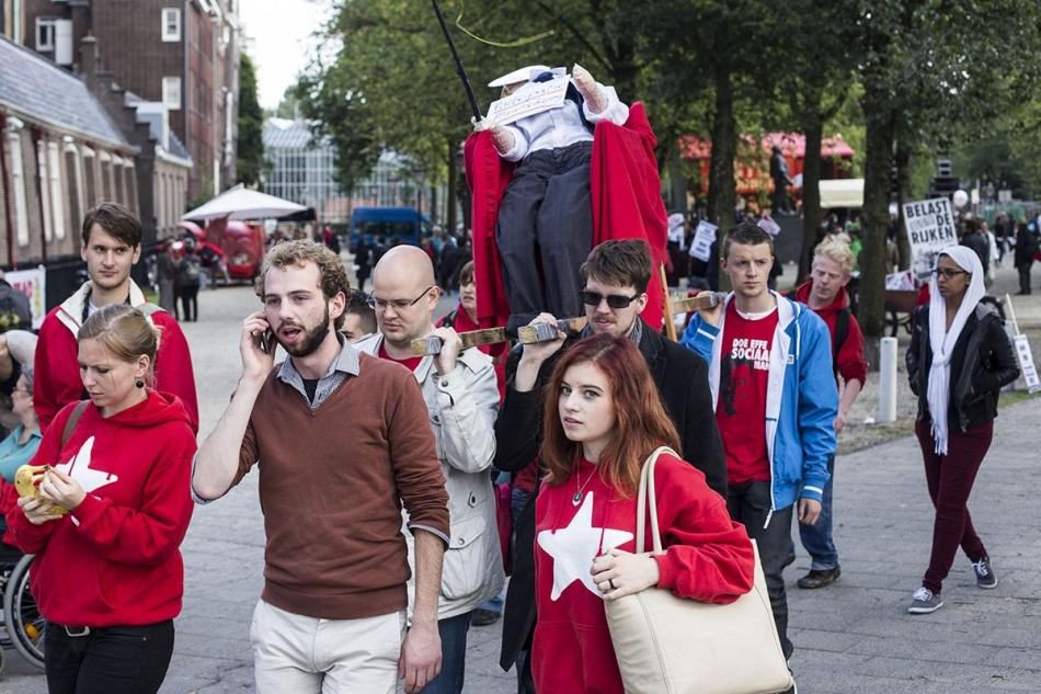 Anti rutte demonstratie amsterdam 1 for Demonstratie amsterdam